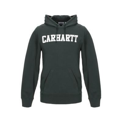 カーハート CARHARTT スウェットシャツ ダークグリーン L 100% コットン スウェットシャツ