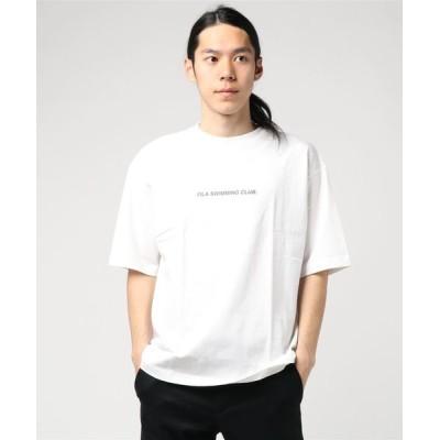tシャツ Tシャツ フィラ/FILA コットン100%ビッグロゴバックプルント半袖Tシャツ