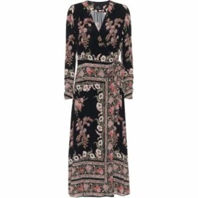 エトロ Etro レディース ワンピース ラップドレス ミドル丈 ワンピース・ドレス Floral sable midi wrap dress