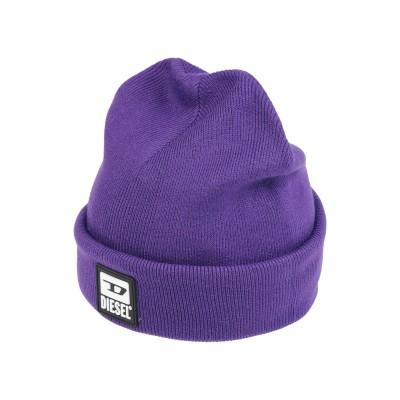 ディーゼル DIESEL 帽子 パープル one size アクリル 100% 帽子