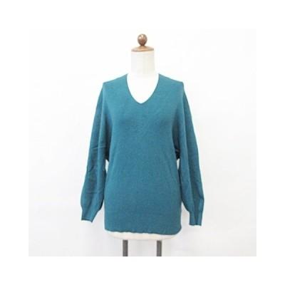 【中古】ビス ViS ニット セーター 長袖 変形Vネック ブルー F レディース 【ベクトル 古着】