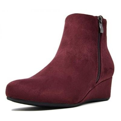 ドリームペア レディース ブーツ Dream Pairs Women's CINQ Low Wedge Heel Ankle Boots