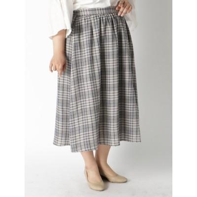 【大きいサイズ】色柄豊富、ウエストゴム仕様スカート 大きいサイズ スカート レディース