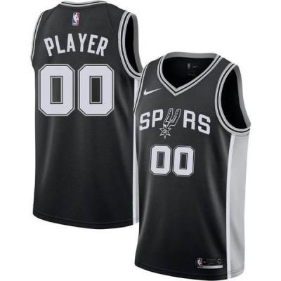 ナイキ メンズ シャツ トップス Nike Men's Full Roster San Antonio Spurs Black Dri-FIT Swingman Jersey