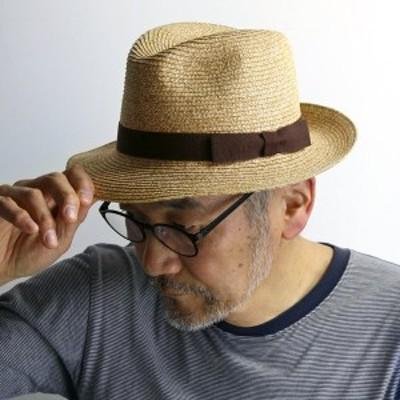 ガリアーノ ソルバッティ ストローハット メンズ イタリア製 ペーパーハット ブレード 大きいサイズ ワイド ハット 中折れ帽子 春 夏 レ