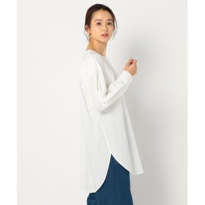 【フレディアンドグロスター】 ノーカラーチュニックシャツ レディース オフホワイト 38 FREDY&GLOSTER