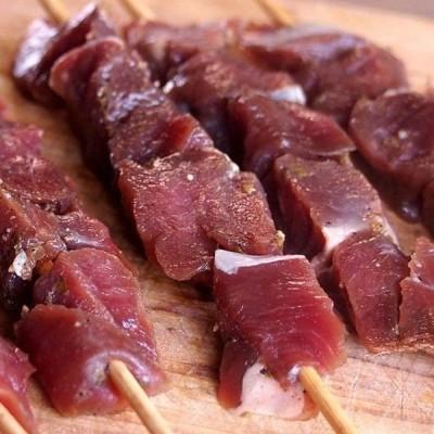 ポイント消化 竹串付き味付けヤギ肉キューブ 150g 山羊