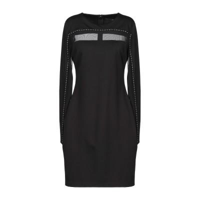 ゲス GUESS ミニワンピース&ドレス ブラック XS レーヨン 49% / ナイロン 29% / テンセル 18% / ポリウレタン 4% ミニ