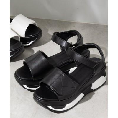 【ウィゴー】 WEGO/厚底ベルトスポーツサンダル レディース ブラック L WEGO