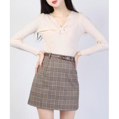 WEGO / WC/ツイスト長袖トップス WOMEN トップス > Tシャツ/カットソー