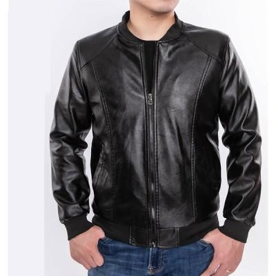 革ジャケット メンズ レザージャケット ライダースジャケット  バイクジャケット PUレザー  革ジャン バイクウエア