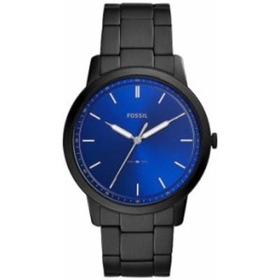 フォッシル メンズ 腕時計 アクセサリー The Minimalist Three-Hand Black Stainless Steel Watch Black