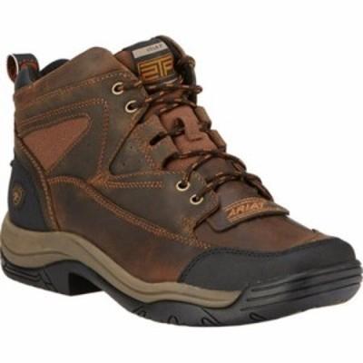 アリアト レインシューズ・長靴 Terrain Wide Square Toe Boot Distressed Brown Full Grain Leather