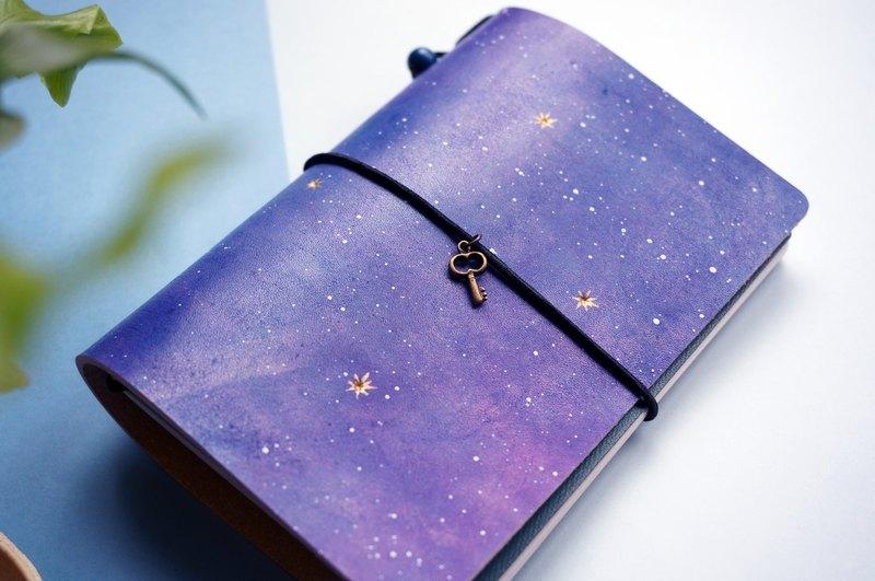 手染宇宙星空 極簡護照夾 護照套 手帳 筆記本 書衣