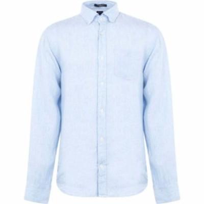 ガント Gant メンズ シャツ トップス Linen Regular Button Down Shirt Pale Blue