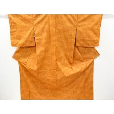 リサイクル 未使用品 雨縞模様織り出し暈し手織り節紬着物