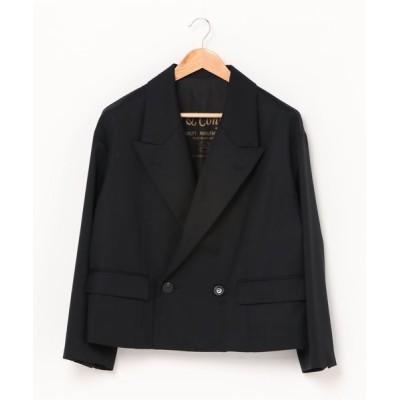 RAWLIFE / Robes&Confections/ローブス&コンフェクションズ/Wool Gabardine 2B Double Breasted Short Jacket/ウールギャバジン2Bダブルブレストショートジャケット/DRC-J04-100F WOMEN ジャケット/アウター > テ