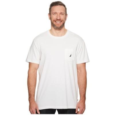 ノーティカ Nautica Big & Tall メンズ Tシャツ 大きいサイズ ポケット トップス Big & Tall Short Sleeve Anchor Pocket Tee Bright White