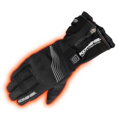 コミネ KOMINE バイク プロテクトエレクトリックグローブ12V 手袋 電熱 発熱 防寒 Black/M 08-201 EK-201