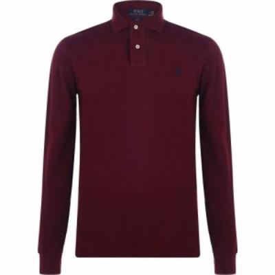 ラルフ ローレン Polo Ralph Lauren メンズ ポロシャツ トップス Long Sleeve Slim Polo Shirt ClassicWine