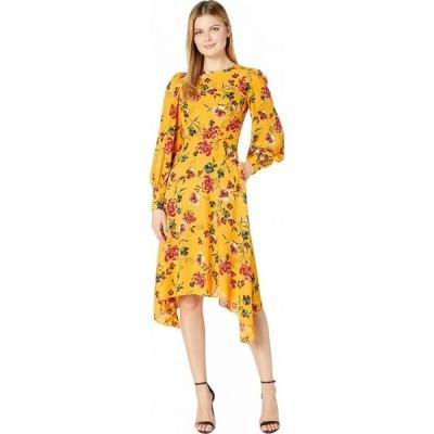 ドナ モルガン Donna Morgan レディース ワンピース ワンピース・ドレス Long Sleeve Georgette Fit-and-Flare with Asymmetrical Hem Dress