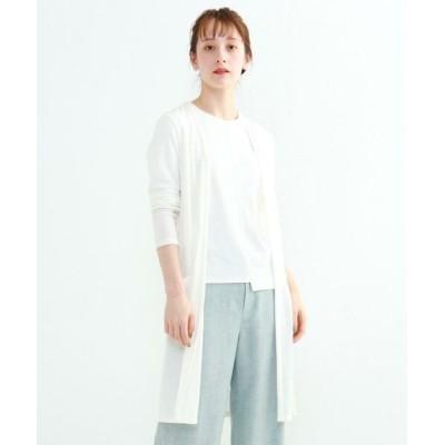 INDIVI/インディヴィ 【UVケア/接触冷感】ロングカーディガン ホワイト(002) 38(M)