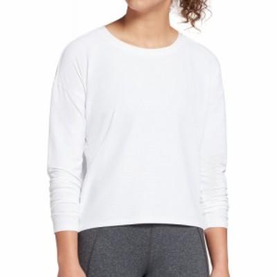 キャリー アンダーウッド CALIA by Carrie Underwood レディース トップス Textured Long Sleeve Shirt Pure White