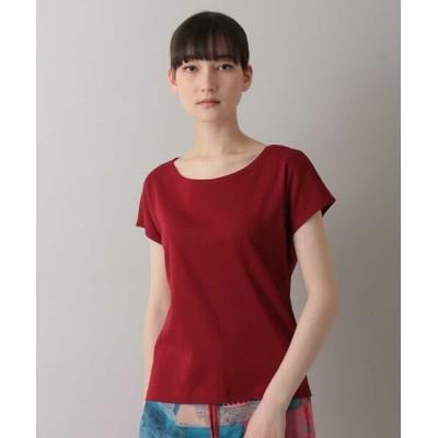 HIROKO KOSHINO/ヒロココシノ 【洗濯機で洗える/日本製】シルケット綿フライスTシャツ パープル 38