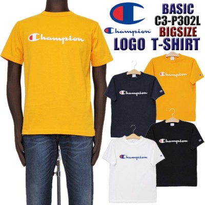 Champion チャンピオン C3-P302L ベーシック プリント ロゴ 半袖Tシャツ メンズ champion BASIC basic 大きいサイズ ビッグサイズ 大寸