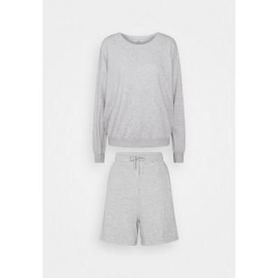 オンリー トール レディース カジュアルパンツ ボトムス ONLKAPPI SET - Sweatshirt - light grey melange light grey melange