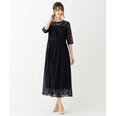 any SiS/エニィスィス エアリレーシー ドレス ネイビー 2