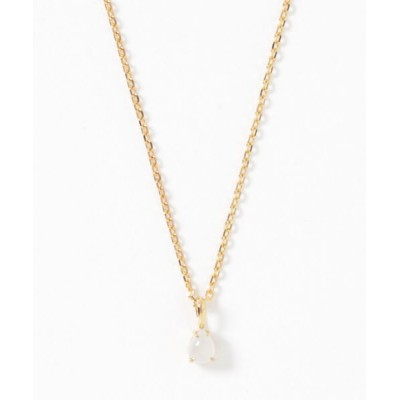 sowi / 【SV925】ゴールドカラー 一粒 天然石 ネックレス WOMEN アクセサリー > ネックレス