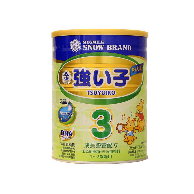 雪印 金強子3 PLUS成長營養配方900g-新包裝