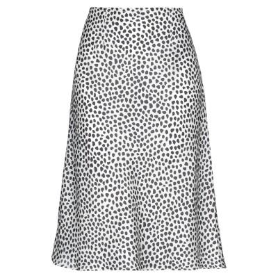 STEFANEL 7分丈スカート アイボリー 42 ポリエステル 100% 7分丈スカート
