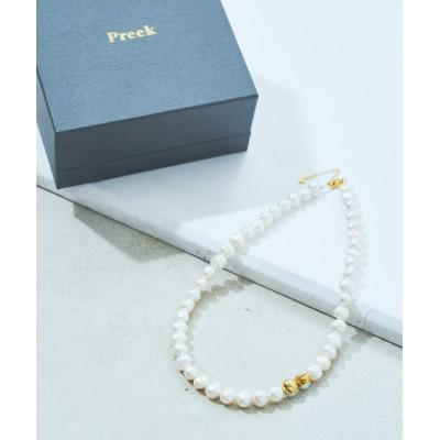 【Preek/プリーク】丸パール大 ネックレス