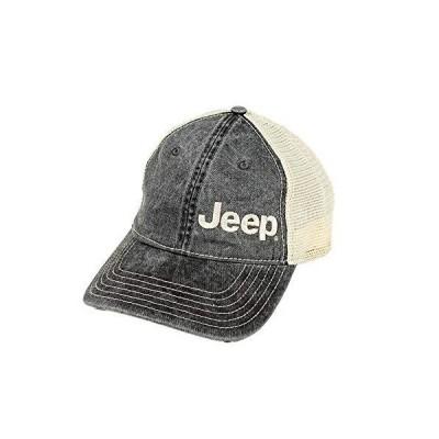 Jeep ガーメント ウォッシュド トラッカーハット - ブラック