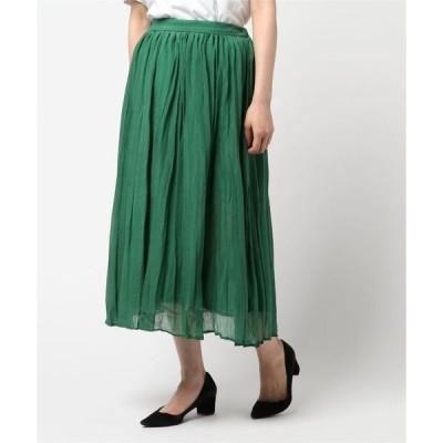 スカート 【LA】シアーボイルプリーツスカート