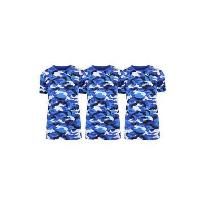 ギャラクシーバイハルビック Tシャツ トップス レディース Women's Loose Fitting  Short Sleeve Crew Neck Camouflage Printed T-Shirt - 3 Pack Blue Camo