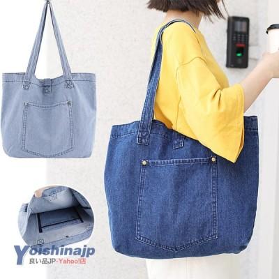 トートバッグ レディース 肩掛けバッグ A4サイズ キャンバスバッグ 大容量 かばん 通学 旅行 バッグ