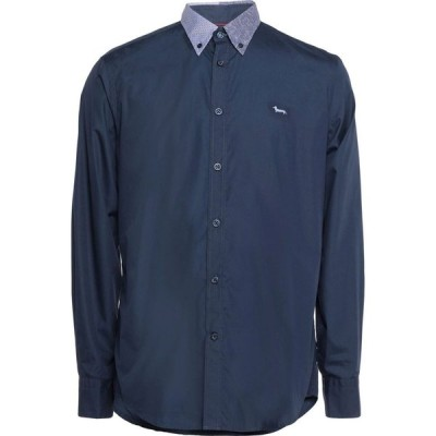 ハーモント アンド ブレイン HARMONT&BLAINE メンズ シャツ トップス Solid Color Shirt Dark blue