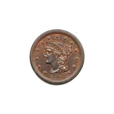 金貨 銀貨 硬貨 シルバー ゴールド アンティークコイン 1852 N-18a R-3 Braided Hair Large Cent Coin 1c