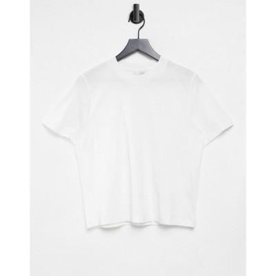 アンドアザーストーリーズ レディース Tシャツ トップス & Other Stories organic cotton t-shirt in white White