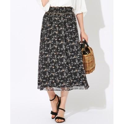 スカート 【WEB限定】【Tricolore】ガーデンプリントスカート