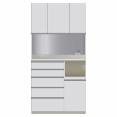 家具 収納 家電が使いやすいハイカウンター奥行45cm ダイニングボード高さ203cm幅100cm/パモウナDQL-S1000R DQR-S1000R 587901