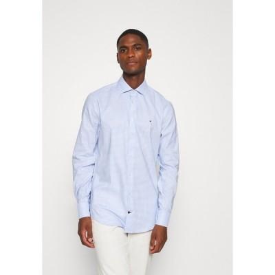 トミー ヒルフィガー シャツ メンズ トップス OXFORD CHECK CLASSIC SLIM SHIRT - Formal shirt - blue