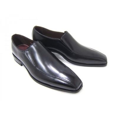 フランコ ルッチ/FRANCO LUZI FL2953-BLK ブラック 紳士靴 スリップオン スワールモカ ビジネス 送料無料