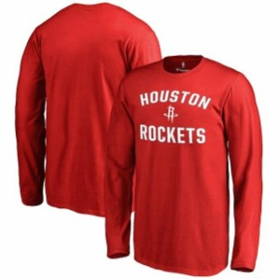 Fanatics Branded ファナティクス ブランド スポーツ用品  Houston Rockets Youth Red Victory Arch Long Sleeve T-Shi