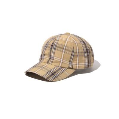 帽子 キャップ B:MING by BEAMS / リネン チェック キャップ