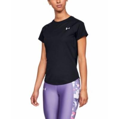 アンダーアーマー レディース シャツ トップス Women's Speed Stride Run Short Sleeve Black