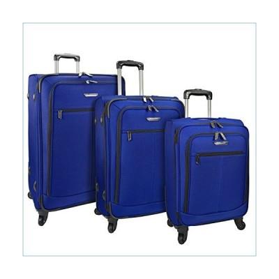 Traveler's Choice Merced Lightweight Expandable Spinner Luggage Set 3-Piece, Cobalt Blue並行輸入品